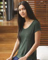 Alternative Women's Washed Slub Favorite Pocket T-Shirt 12412