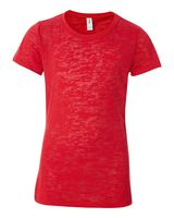 Blue 84 Juniors' Burnout Short SleeveT-Shirt JBT