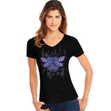 Hanes Women's Dragonfly Mandala Short-Sleeve V-Neck Graphic Tee GT9337 Y07650