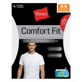 Hanes Men's Comfort Fit Crew-Neck Undershirt 4-Pack CFFCW4