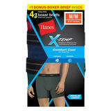 Hanes Mens X-Temp Comfort Cool Boxer Brief 4-Pack (Includes 1 Free Boxer Brief )973XF4