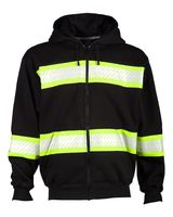 ML Kishigo Enhanced Visibility Heavyweight Hooded Full-Zip Sweatshirt B310