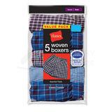 Hanes Boys Red Label Tartan Boxer 5-Pk B841W5