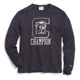 Champion Men's Heritage Long-Sleeve Slub Tee, C Logo with Bulldog T4333 549318