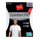 Hanes Men's Comfort Fit Crew-Neck Undershirt 2XL 3-Pack CFFCW3
