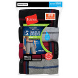 Hanes Men's Cool DRI® Long Leg Boxer Briefs with Comfort Flex® Waistband 5-Pack MCB3A5