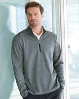 Adidas Brushed Terry Heathered Quarter-Zip Pullover A284