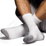 Hanes Classics Mens ComfortSoft Crew Socks 6-Pk CL84