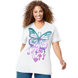 Just My Size Bedecked Butterfly Short Sleeve Graphic Tee GTJ181 Y07188