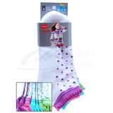 Hanes Classics Girls Scallop Low-Cut EZ Sort Socks 4-Pk 778/4