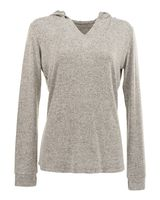 J. America Cozy Fleece Women's Hooded Pullover 8655