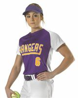 Alleson Athletic Girls' Two Button Fastpitch Jersey A00057