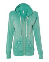 MV Sport Women's Angel Fleece Hooded Full-Zip Sweatshirt W2350