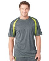 Badger Pro Heather Fusion Short Sleeve T-Shirt 4340