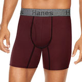 Hanes Men's Comfort Flex Fit Ultra Soft Cotton Stretch Boxer Briefs 3-Pack CFFBC3