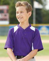 Augusta Sportswear Youth Gamer Colorblocked Baseball Henley 1521
