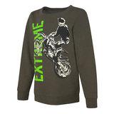 Hanes EcoSmart Boys' Jam Beast Crewneck Sweatshirt OD108