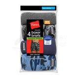 Hanes Mens Boxer Briefs with ComfortSoft Waistband 4-Pk 7470CM