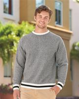J. America Peppered Fleece Crewneck Sweatshirt 8702