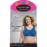 Just My Size Pure Comfort Wirefree Bra with Lace Trim & Back Close 1271