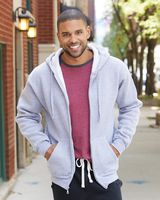 J. America Premium Full-Zip Hooded Sweatshirt 8821