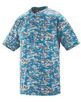 Augusta Sportswear Youth Digi Camo Wicking Two-Button Jersey 1556
