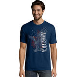 Hanes Men's Eagle America Graphic Tee GT49 Y06043