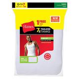 Hanes Men's TAGLESS® ComfortSoft® A-Shirt 7-Pack (Includes 1 Free Bonus A-Shirt) 372AG7