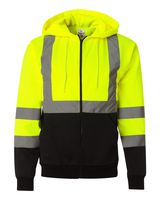 ML Kishigo Hi-Vis Hooded Full-Zip Sweatshirt JS102-103