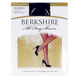 Berkshire Queen Size All Day Sheer Non-Control Top Pantyhose Sandalfoot 4416