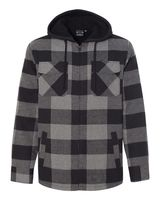 Burnside Quilted Flannel Full-Zip Hooded Jacket 8620