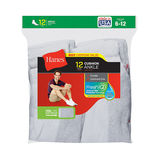 Hanes Men's Ankle Socks 12-Pack (Styles 186V12 and 145V12) 186V12