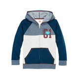 Hanes Boys' Graphic Fleece Colorblock Full Zip Hoodie D266