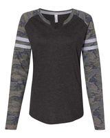 LAT Women's Fine Jersey Mash Up Long Sleeve T-Shirt 3534