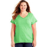 Just My Size X-Temp Short-Sleeve V-Neck Women's Pocket Tee OJ225