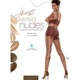 Hanes Perfect Nudes Sheer Micro Net Girl Short Tummy Control Hosiery PN0003