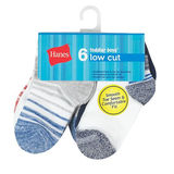 Hanes Boys Toddler 6-Pack Low Cut Sock TB28W6
