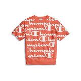 Champion Life Men's Reverse Weave Short-Sleeve Crew, Allover Logo T9596P