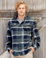 Burnside Snap Front Long Sleeve Plaid Flannel Shirt 8219