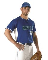 Alleson Athletic Two Button Baseball Jersey A00013