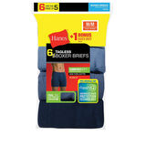Hanes Men's TAGLESS® Boxer Brief with ComfortSoft® Waistband 6-Pack (Includes 1 Free Bonus Boxer Brief) 7460Z6