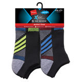 Hanes Boys' X-Temp Active Cool No Show Sock 6-Pack HBXTN6