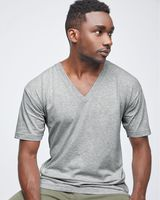 American Apparel Fine Jersey V-Neck T-Shirt 2456W