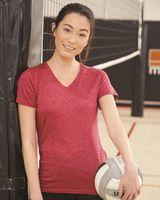 Badger Women's Triblend Performance V-Neck Short Sleeve T-Shirt 4962