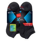 Hanes Men's FreshIQ X-Temp Active Cool No-Show Socks 12-Pack AC1212