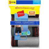 Hanes Men's FreshIQ Cool Comfort Breathable Mesh Boxer Brief 5-Pack LB234Z