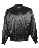 Augusta Sportswear Satin Baseball Jacket with Solid Trim 3600
