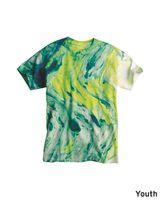 Dyenomite Youth Marble Tie Dye T-Shirt 20BMR