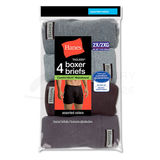 Hanes Men's TAGLESS Boxer Briefs with ComfortSoft Waistband 4-Pk 7460P4B