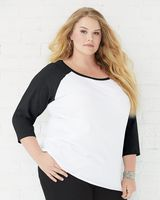LAT Curvy Collection Women's Baseball Tee 3830